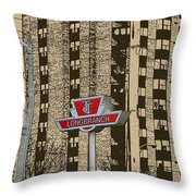 End Of The Line At Long Branch Throw Pillow