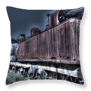 End Of The Line. Throw Pillow