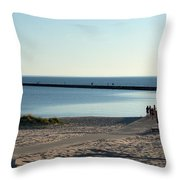 End Of The Pier Throw Pillow