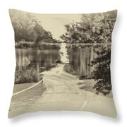 End Of The Road Merged Image Throw Pillow