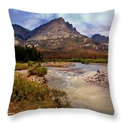 End Of The Road Mountain Throw Pillow