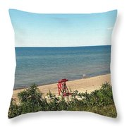 End Of The Season At Wendt Beach Park Throw Pillow