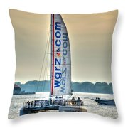 End Of The Tour Back To Shore Throw Pillow