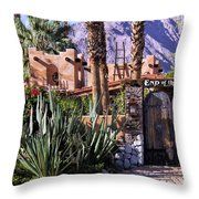 End Of The Trail Throw Pillow