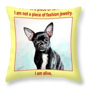 End The Puppy Mills Throw Pillow