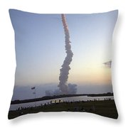 Endeavour Liftoff For Sts-59 Throw Pillow