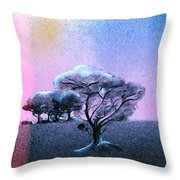 Ending Night Throw Pillow