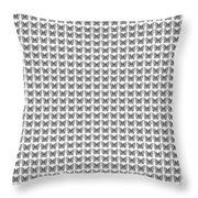 Endless Butterflies On White Throw Pillow