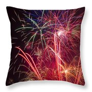 Endless Fireworks Throw Pillow by Garry Gay