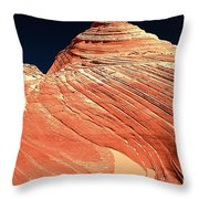 Endless Lines In Sandstone Throw Pillow