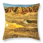 Endless Painted Hills Throw Pillow
