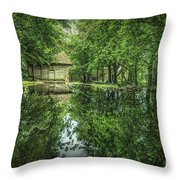 Endless Shades Of Green Throw Pillow