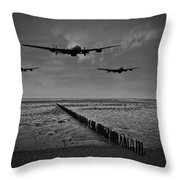 Enemy Coast Ahead Skipper Black And White Version Throw Pillow