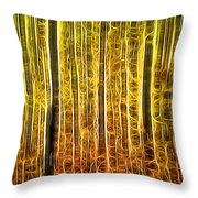 Energy Of The Forest Autumn Color Throw Pillow