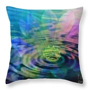 Energy Ripples Throw Pillow by PainterArtist FIN