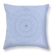 Energy Wave 20 Degree Frequency Throw Pillow
