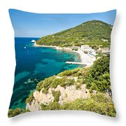 Enfola Beach - Elba Island Throw Pillow
