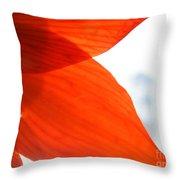Enfolding In Orange Throw Pillow