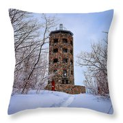 Enger Tower In Winter Throw Pillow