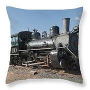 Engine 40 In The Colorado Railroad Museum Throw Pillow
