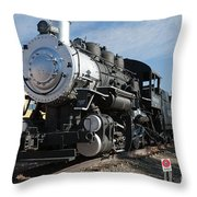Engine 4455 In The Colorado Railroad Museum Throw Pillow