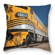 Engine 5771 In The Colorado Railroad Museum Throw Pillow