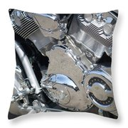 Engine Close-up 3 Throw Pillow