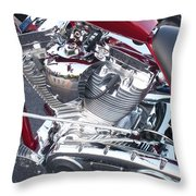 Engine Close-up 4 Throw Pillow