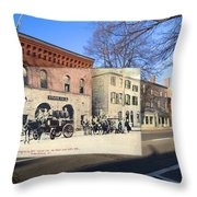 Engine Co. No. 2 In Providence Ri Throw Pillow