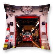 Engine Company 65 Firehouse Midtown Manhattan Throw Pillow