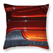 Engine Cover For 57 Nomad Throw Pillow