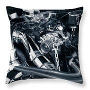 Engine Details Throw Pillow