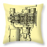 Engine Patent 1920 Throw Pillow