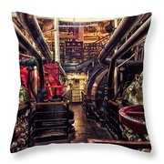 Engine Room Queen Mary 02 Throw Pillow