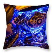 Engine Shimmer Throw Pillow