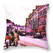 England 1986 Oxford Street Snapshot0145a Jgibney The Museum Zazzle Gifts Throw Pillow