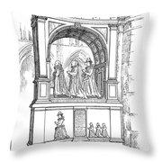 England Church Monument Throw Pillow