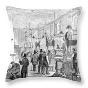 England Currency, 1854 Throw Pillow