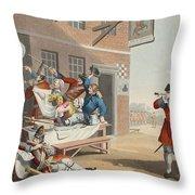 England, Illustration From Hogarth Throw Pillow
