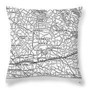 England Railroad Map Throw Pillow