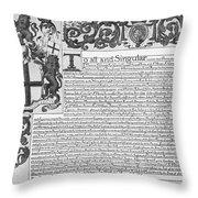 England Trade Charter Throw Pillow