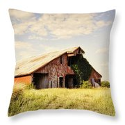 Englewood Barn Throw Pillow by Cricket Hackmann