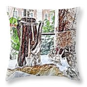 English Afternoon Throw Pillow