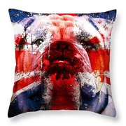 English Bull Dog Throw Pillow