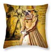English Bulldog Art Canvas Print  Throw Pillow