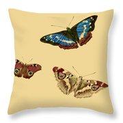 English Butterflies Throw Pillow