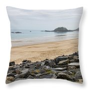 English Channel Beach Throw Pillow