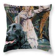 English Cocker Spaniel Art - A Streetcar Named Desire Throw Pillow