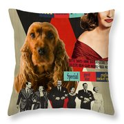 English Cocker Spaniel Art - All About Eve Throw Pillow