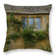 English Cottage Window Throw Pillow